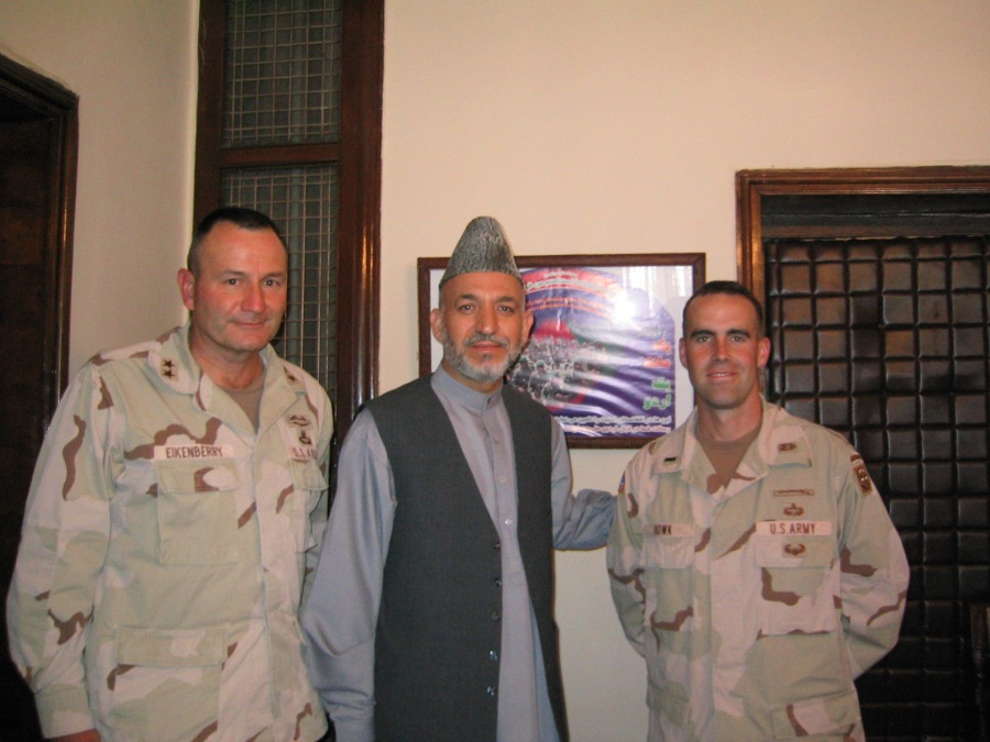 2003 09SEP 18 President Karzai MGE and I