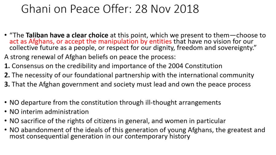2018 clarified Afg govt offer